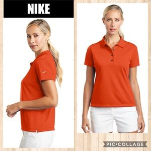 NWT NIKE GOLF Orange Dri-Fit Polo Shirt Sz SML